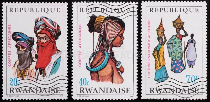 Poczta znaczek Rwanda obrazy royalty free
