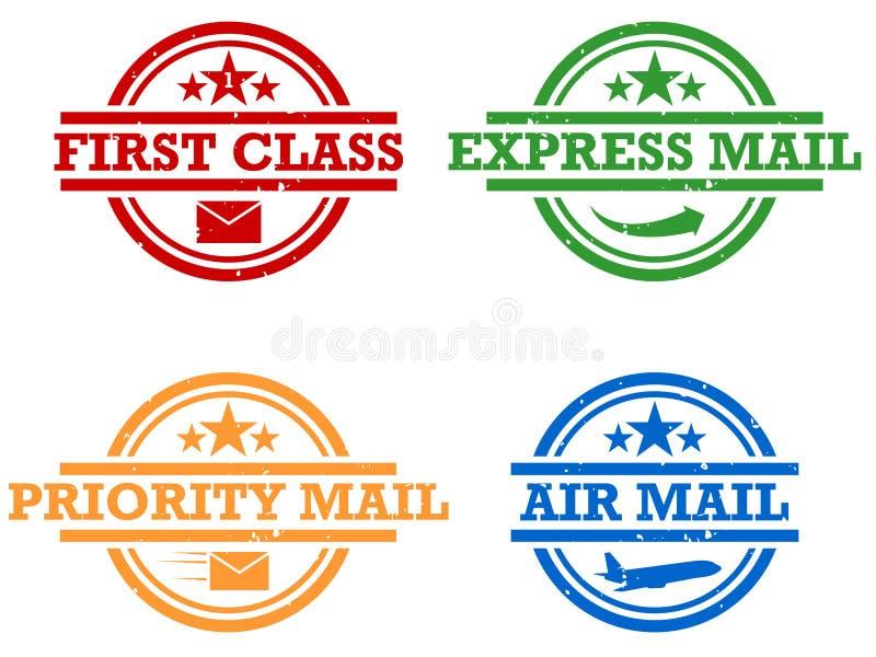 poczta znaczki ilustracja wektor