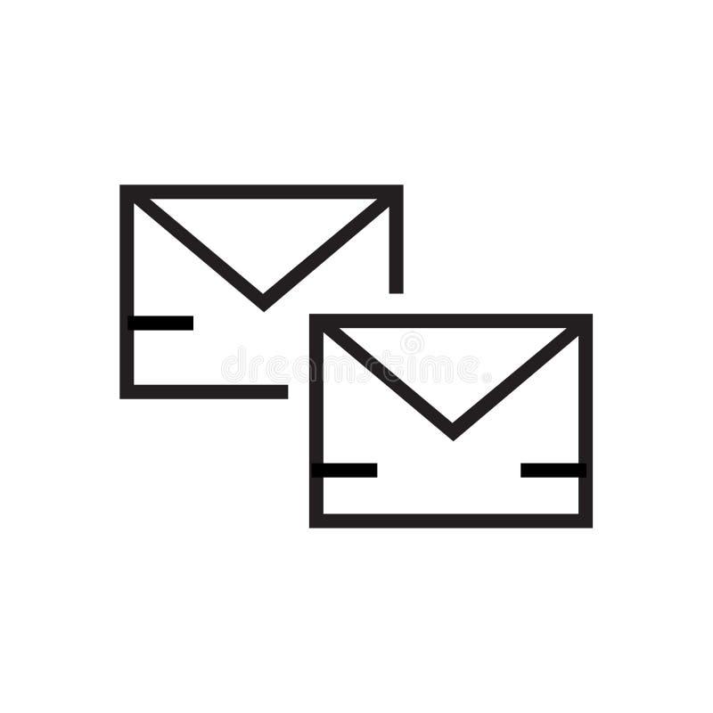 Pocztowy ikona wektoru znak i symbol odizolowywający na białym tle, Pocztowy logo pojęcie ilustracja wektor