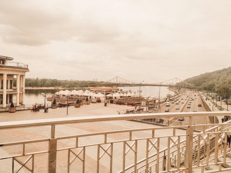 Pocztowy kwadrat | Rzeczny port | Kyiv, Ukraina obraz royalty free