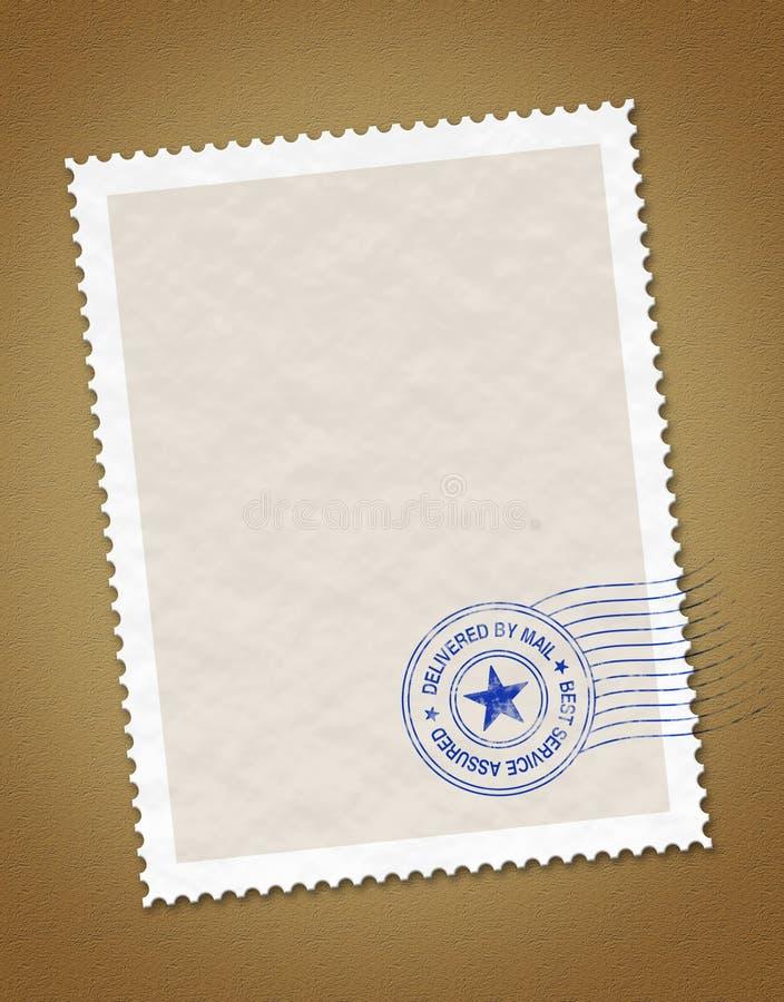 pocztowy znaczek ilustracja wektor