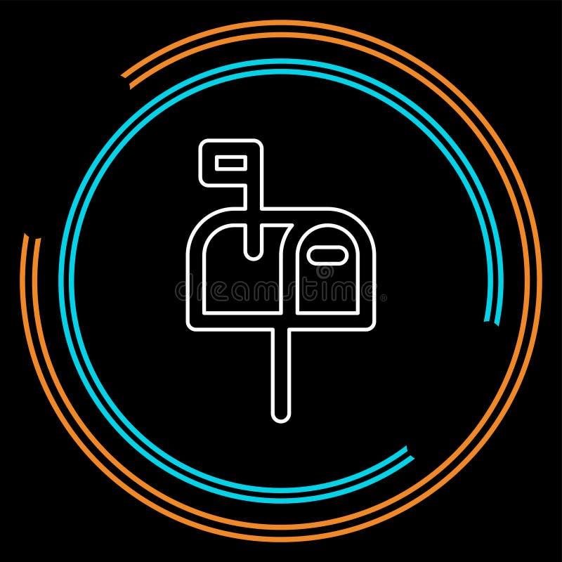 Poczty ikona wysyła wiadomość - wektorowa email ikona - ilustracji