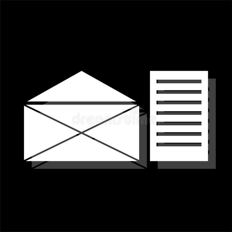 Poczty ikony listowy mieszkanie ilustracji