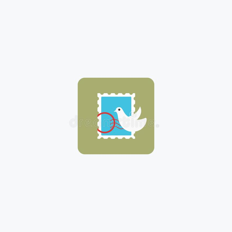 Poczty ocena Poczty oceny ikona logo również zwrócić corel ilustracji wektora 10 eps ilustracji