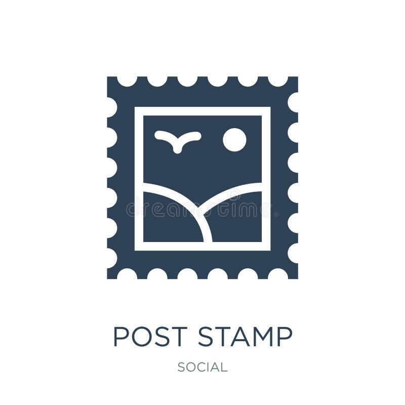poczty stemplowa ikona w modnym projekta stylu poczty stemplowa ikona odizolowywająca na białym tle poczty stemplowa wektorowa ik ilustracja wektor