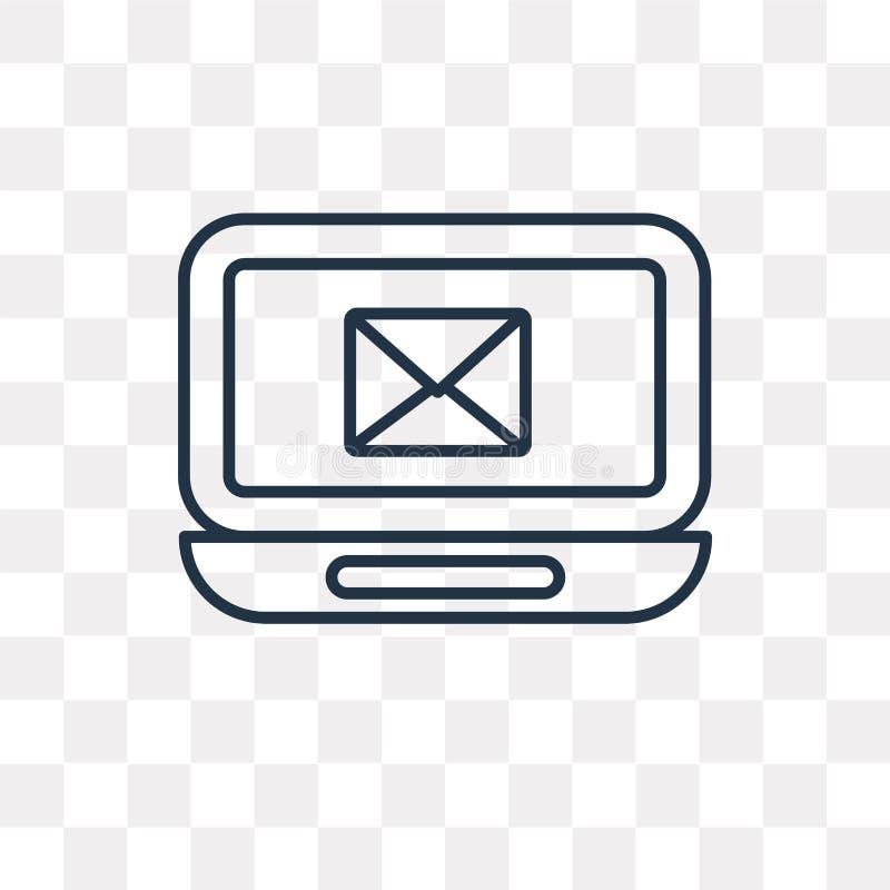 Poczty wektorowa ikona odizolowywająca na przejrzystym tle, liniowa poczta royalty ilustracja