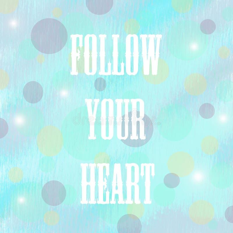 podążać serce twój ilustracja wektor
