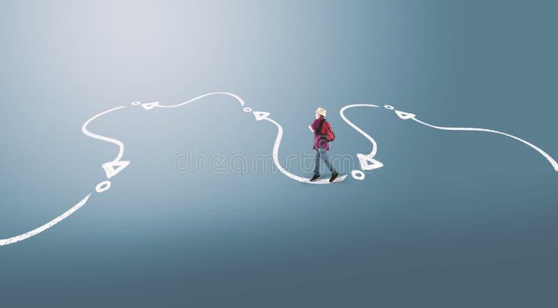 Podąża ścieżkę ilustracja wektor
