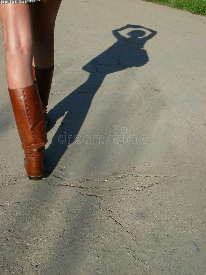 Podąża noga buty zdjęcie royalty free