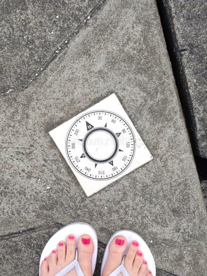Podąża twój kompas obraz stock