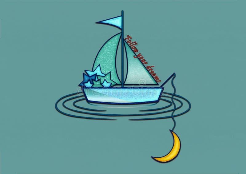 Podąża twój sen ilustraci loga royalty ilustracja