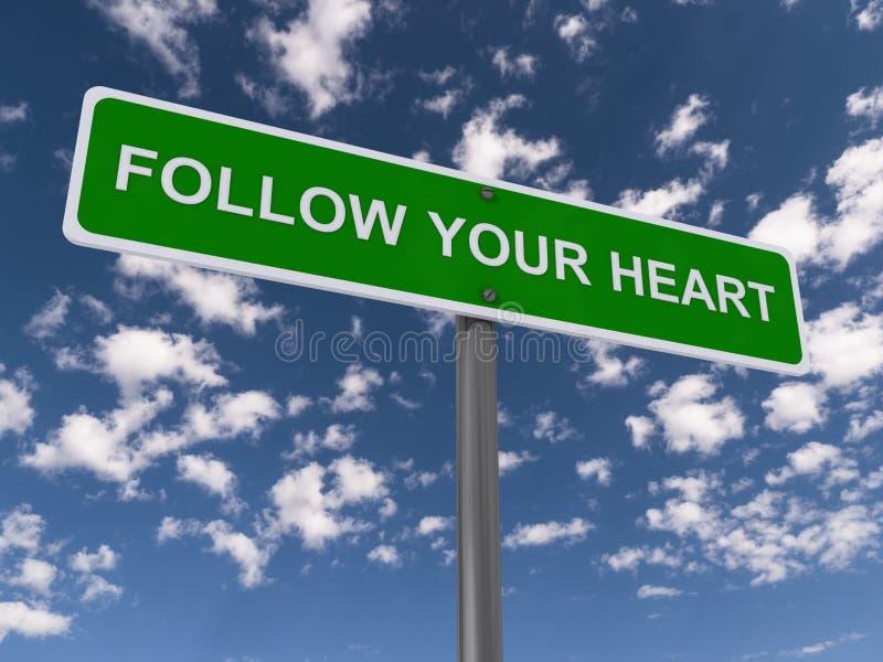 Podąża twój serce fotografia stock