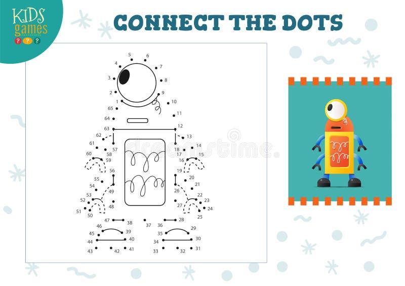 Podłącz ilustrację miniwektora gier dla dzieci ilustracji