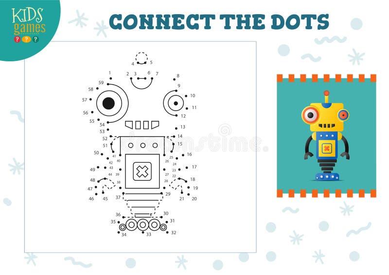 Podłącz ilustrację miniwektora gier dla dzieci royalty ilustracja