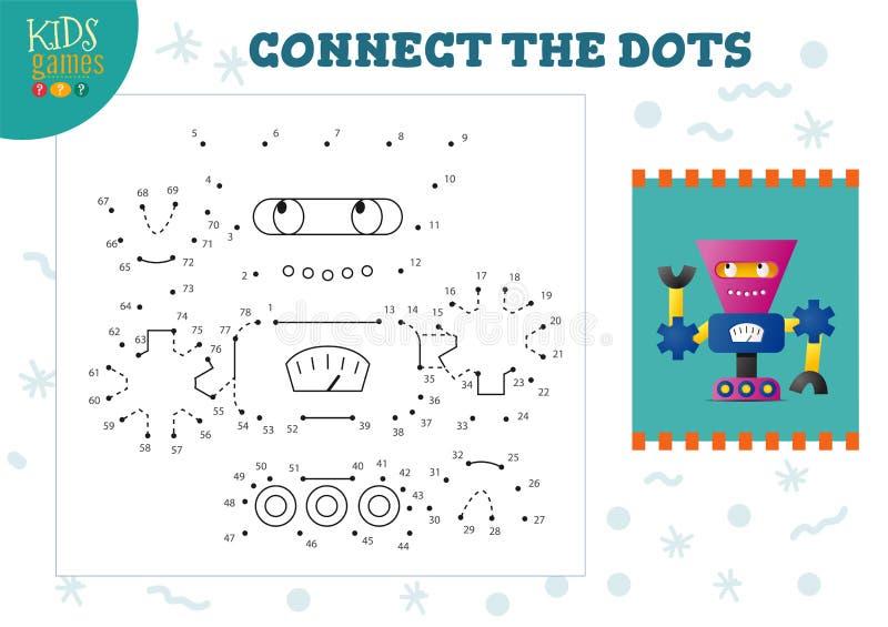 Podłącz ilustrację wektora gier dla dzieci ilustracji