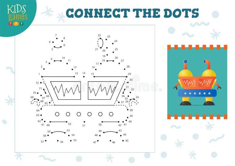 Podłącz ilustrację wektora gier dla dzieci Przedszkolne zajęcia edukacyjne dla dzieci ilustracji