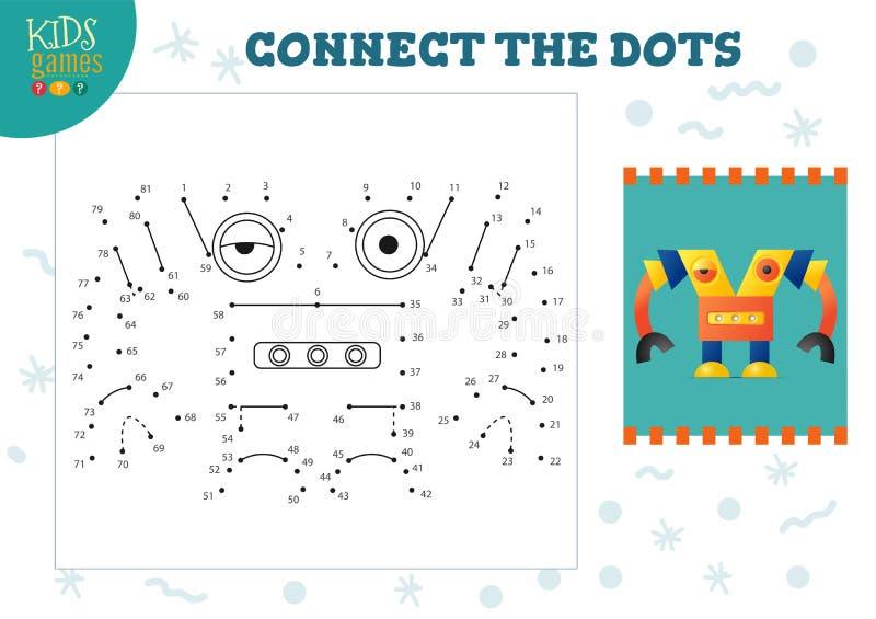 Podłącz ilustrację wektora gier dla dzieci ilustracja wektor