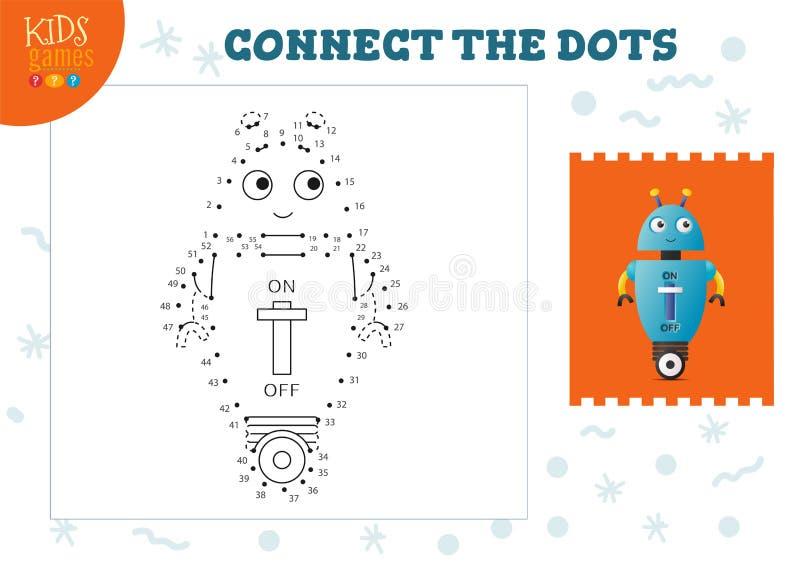 Podłącz ilustrację wektora gier dla dzieci royalty ilustracja