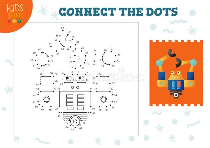 Podłącz ilustracje wektora gier dla dzieci ilustracji