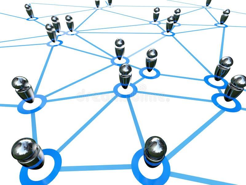 podłączeniowa globalna sieć ilustracja wektor