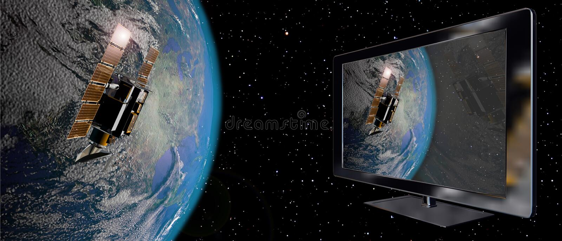 podłączeniowa satelita ilustracja wektor
