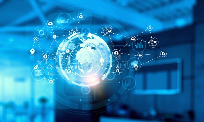 Podłączeniowe technologie dla biznesu Mieszani środki zdjęcia royalty free