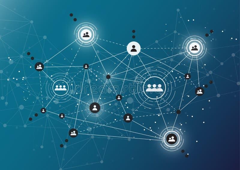 Podłączeniowe technologie dla biznesu Mieszani środki ilustracja wektor