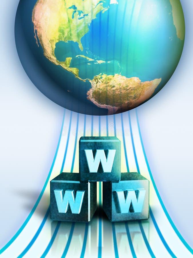 podłączeniowi internety ilustracji