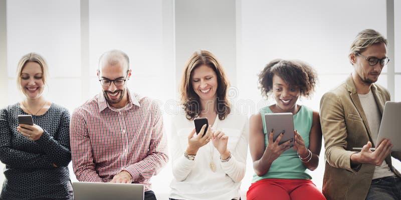Podłączeniowy Cyfrowego przyrządu networking technologii pojęcie obrazy royalty free