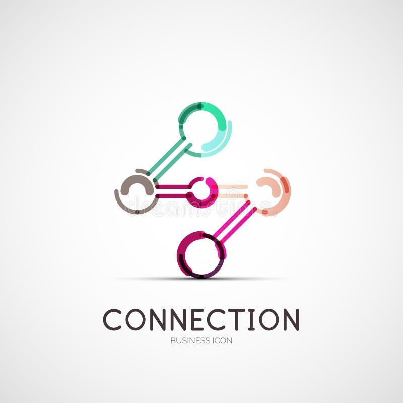 Podłączeniowy ikony firmy logo, biznesowy pojęcie royalty ilustracja
