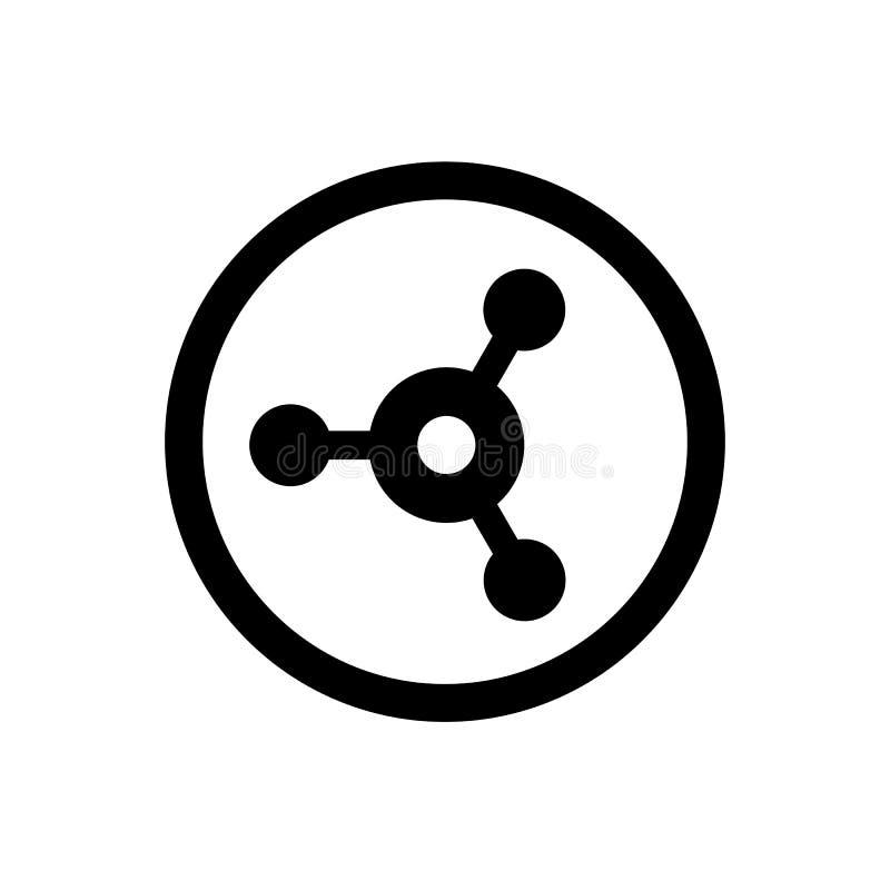Podłączeniowy symbol, część znak, Wektorowy Ilustracyjny projekta związek, ikona, sieć, internet, sieć, wektor, komunikacja ilustracja wektor
