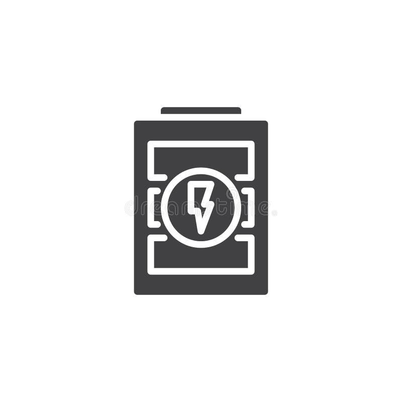 Podładowywa bateryjną powiadomienie wektoru ikonę royalty ilustracja