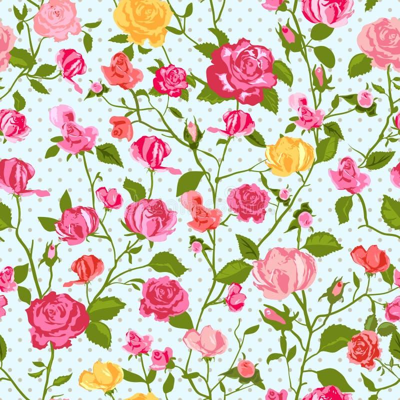 Podławego szyka różany tło royalty ilustracja