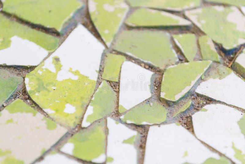 Podławy i łamany zielony trailway fotografia royalty free