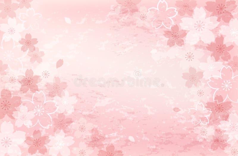 Podławy modny Czereśniowego okwitnięcia tło ilustracji
