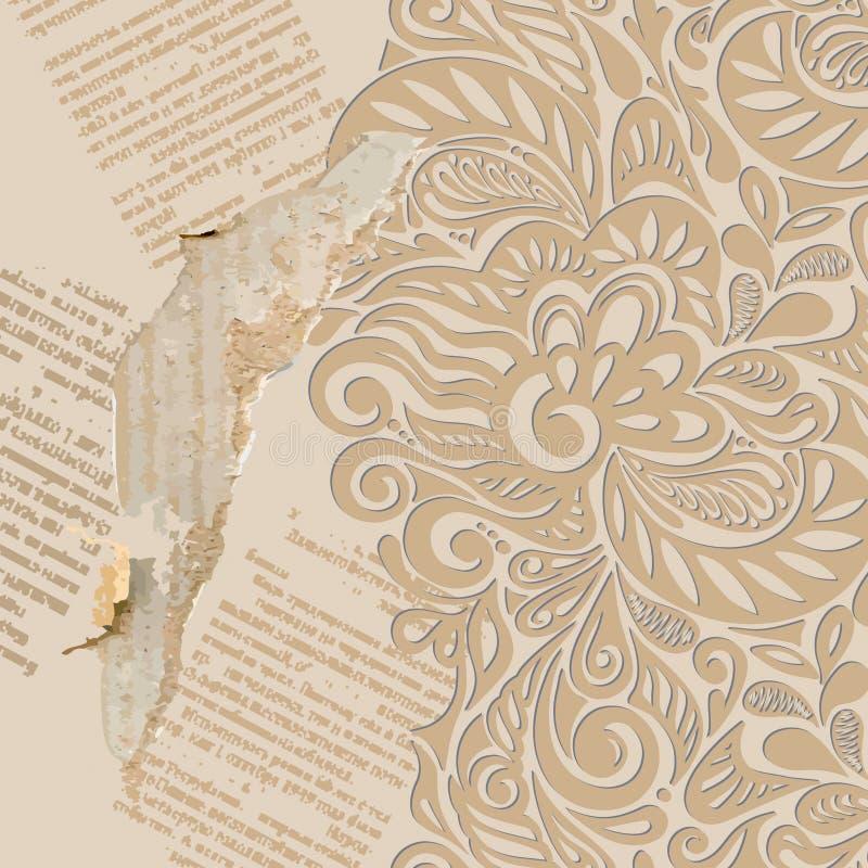 Podławy rocznika tapety tło ilustracji