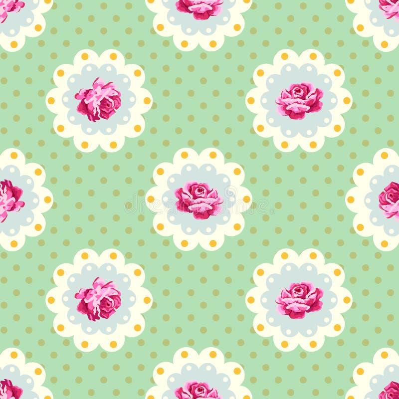 Podławy szyka róży wzór ilustracja wektor