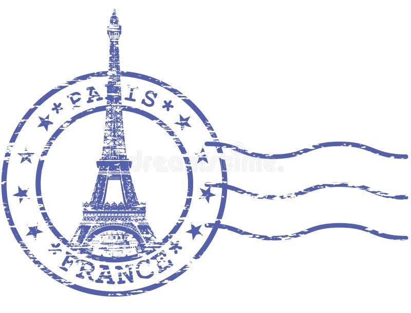 Podławy znaczek z wieżą eifla ilustracji