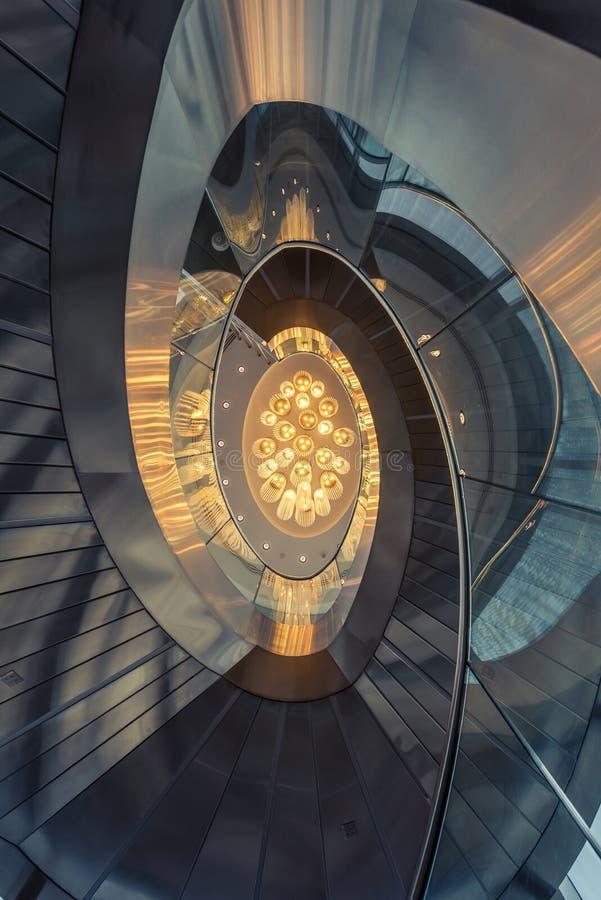 125 podłoga przy Burj Khalifa, W centrum Dubaj - światła zdjęcie royalty free