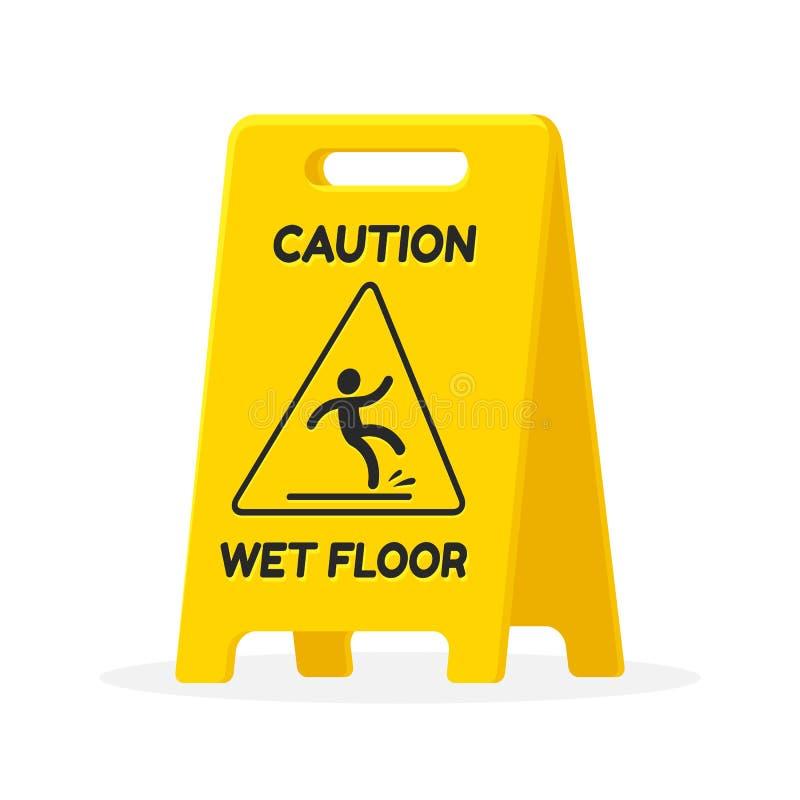 podłoga znak mokre ilustracji