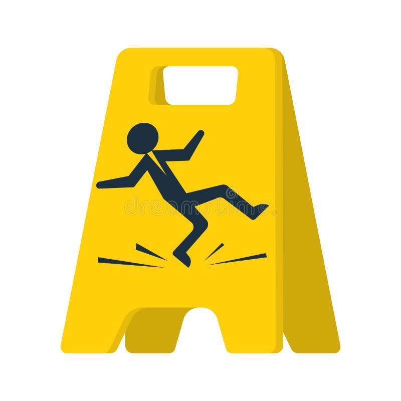 Podłoga znak niebezpieczeństwo ilustracja wektor
