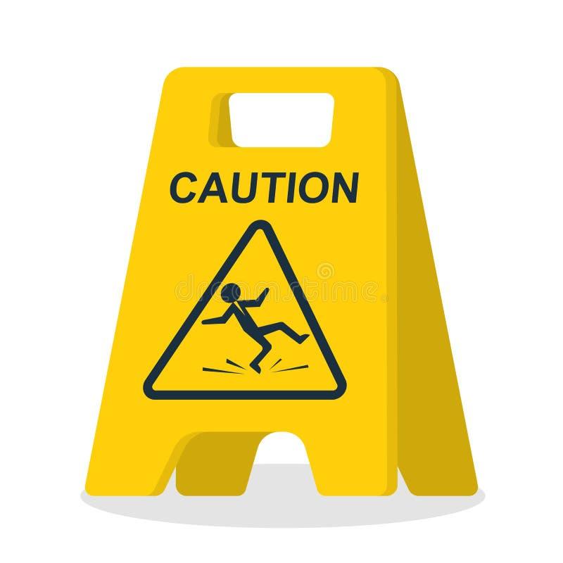 Podłoga znak niebezpieczeństwo podłoga znak mokre royalty ilustracja
