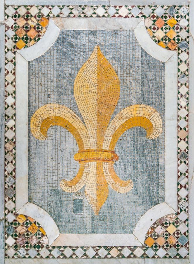 Podłogowa mozaika w bazylice Saints Bonifacio i Alessio na Aventine wzgórzu w Rzym, Włochy zdjęcia stock