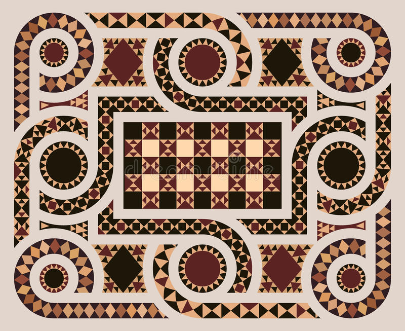 Podłogowa mozaika w wektorze royalty ilustracja