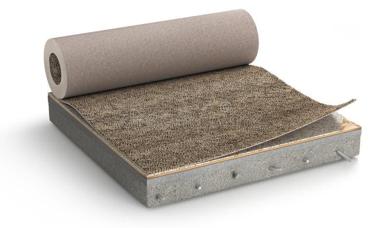 Podłogowe warstwy Kawałek dywanowa podłoga zdjęcie royalty free