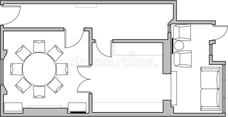 podłogowy architektura plan ilustracji
