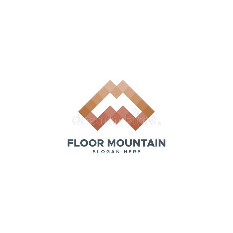 Podłogowy góry M logo projekt royalty ilustracja