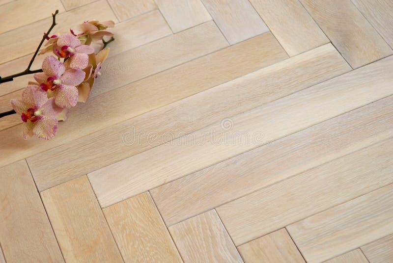 podłogowy parkietowy drewniany obrazy stock