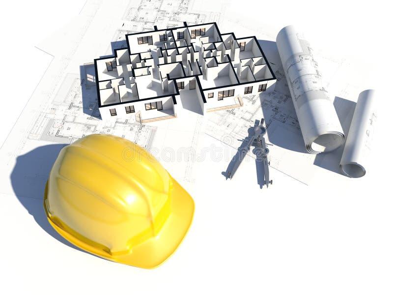podłogowy projekta plan niektóre ilustracja wektor