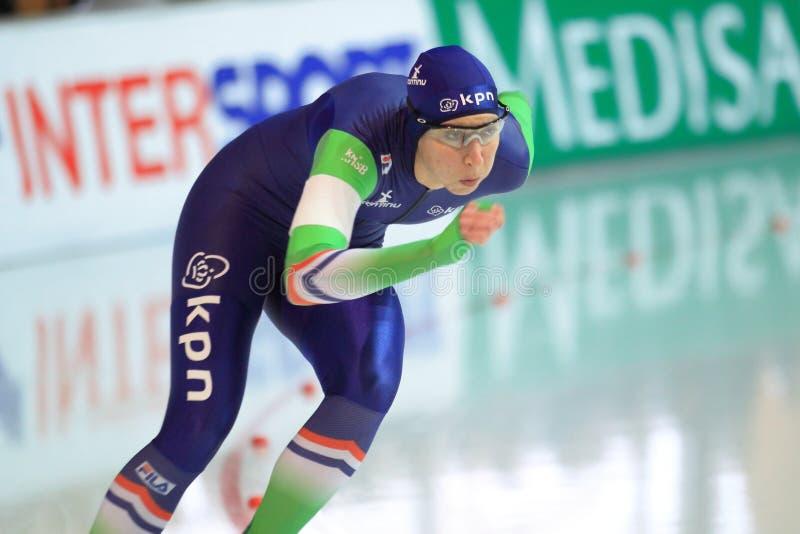 Podłogowy Samochód dostawczy Melina Brandt - prędkości łyżwiarstwo obrazy stock